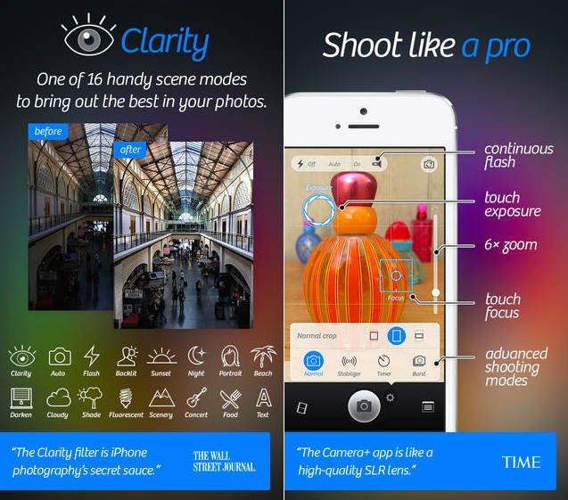 Camera+ برای iOS