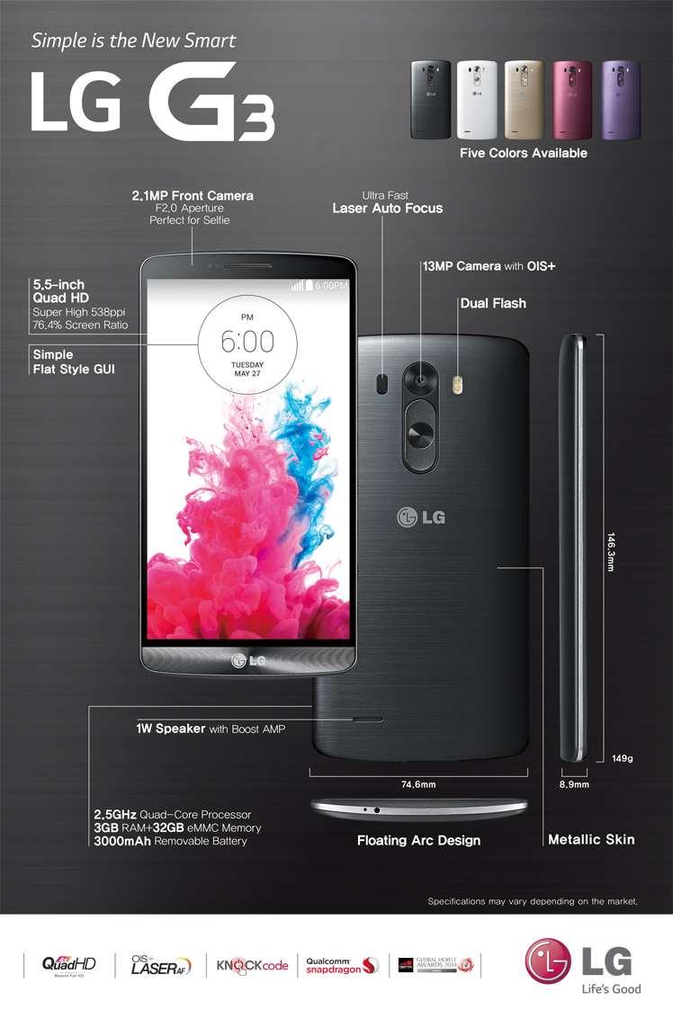 LG G3 simple spec