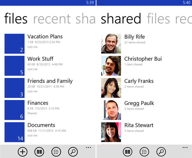 اپلیکیشن ویندوز فون OneDrive