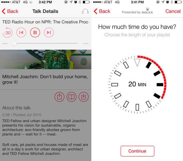TED برای اندروید و iOS