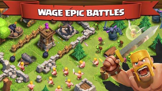 دانلود اپلیکیشن بازی موبایل اندروید آیفون آیپد clash of clans
