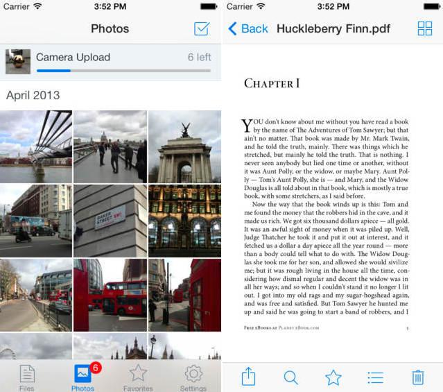 Dropbox برای iOS