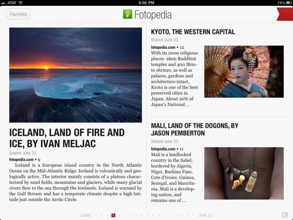 اپلیکیشن مجله الکترونیک فلیپبرد flipboard