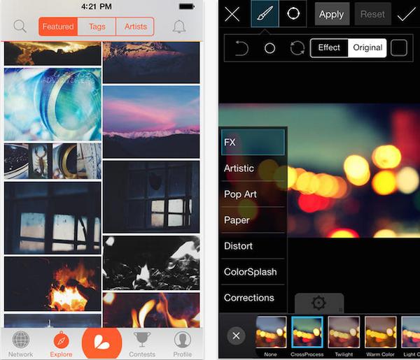 برنامه ویرایش تصاویر pics art app