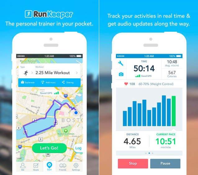 RunKeeper برای iOS