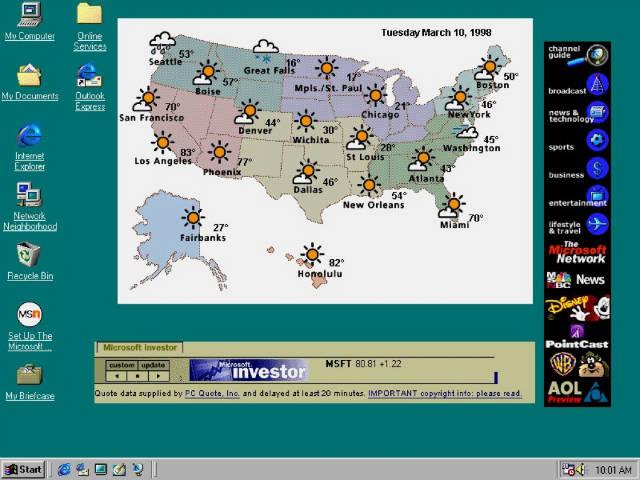 اکتیو دسکتاپ یک حرکت جدی از مایکروسافت برای غنی کردن دسکتاپ با اینترنت بود.