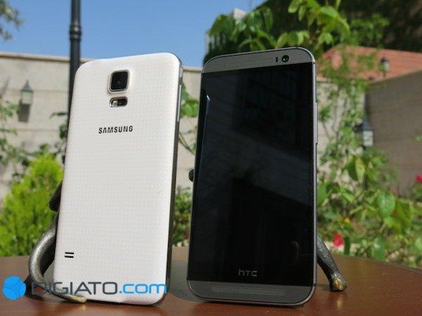 موبایل سامسونگ گلکسی اس ۵ اچ تی سی وان ام ۸ htc one m8 samsung galaxy s5 mobile