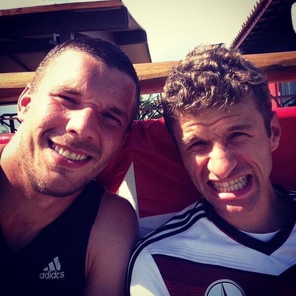 لوکاس پودولسکی و توماس مولر از آلمان.