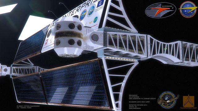 طرح مفهومی یک سفینه با ساختار تار و پودی که در حال حاضر توسعه آن بیشتر شبیه تخیل است ولی در عین حال تصاویر طراحی شده توسط رادمیکر عناصر واقعی را با پیشنهادهایی از دنیای علمی-تخیلی بازطراحی کرده. گویا این پنل های کناری سفینه انترپرایز از ایستگاه فضایی بین المللی قرض گرفته شده اند.