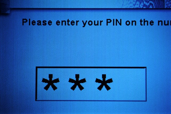 Pin Number Entry Screen