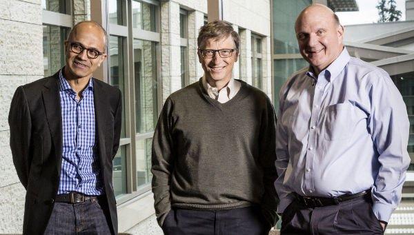 مدیر عامل مایکروسافت ساتیا نادلا microsoft ceo بیل گیتس استیو بالمر bill gates