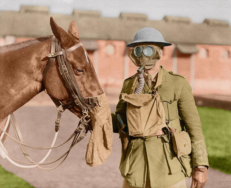 2-soldier-horse-gas-masks-canadian-army-veterinary-corps-ww1-colour-w600