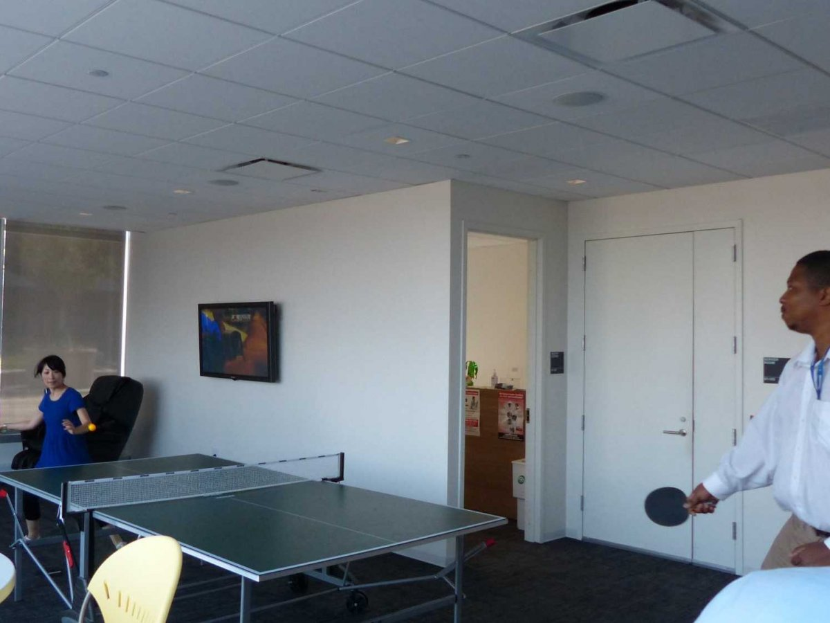 amenities-include-a-recreation-room-with-a-ping-pong-table-near-the-cafeteria-theres-also-a-healthcare-center