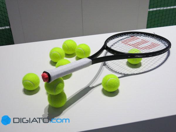 راکت تنیس سونی با سنسوری که دارد می تواند اطلاعات مفیدی را در اختیار ورزشکار قرار دهد.