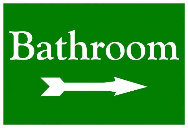 Bathroom-Sign-With-Arrow