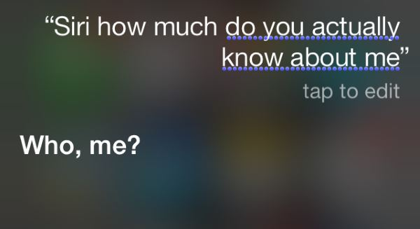 Siri Knows About Me
