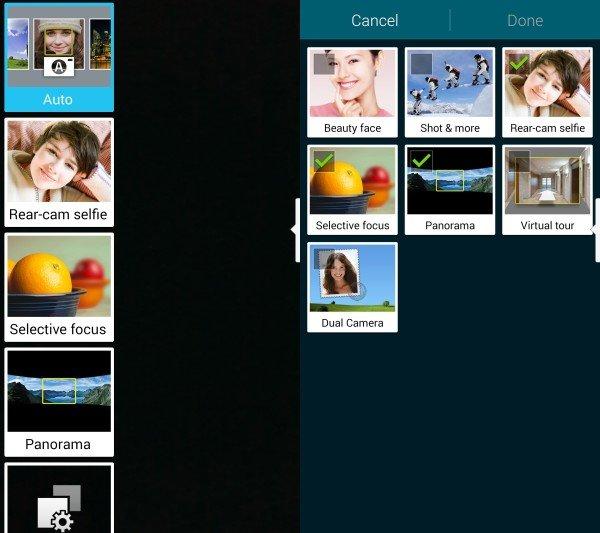 گالری تصاویر اپلیکیشن دوربین نوت ۴