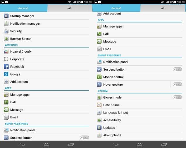 گالری تصاویر رابط کاربری MediaPad X1