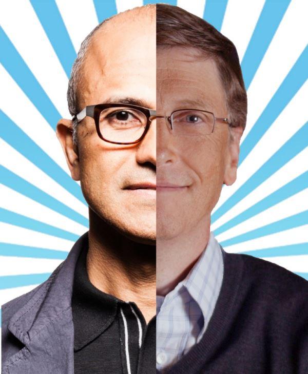 Satya-Nadella-Bill-Gates
