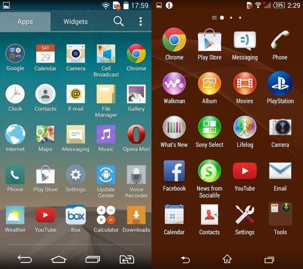 گالری تصاویر رابط کاربری LG G3 Beat و Sony Xperia Z3 Compact