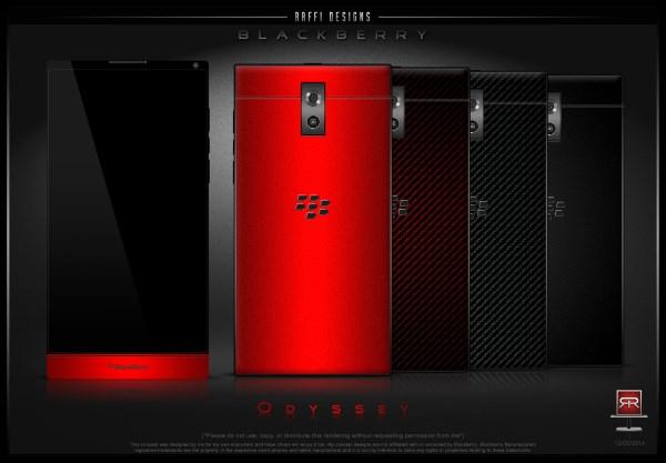 گالری تصاویر طرح مفهومی BlackBerry Odyssey