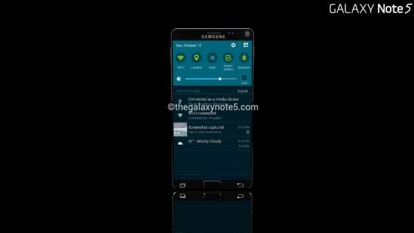 گالری تصاویر طرح مفهومی Samsung Galaxy Note 5