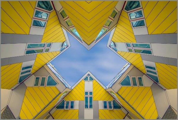 خانه های مکعبی  مجموعه ای از ساختمان های خلاقانه در هلند هستند که توسط معمار پیِت بلوم ساخته شده اند.