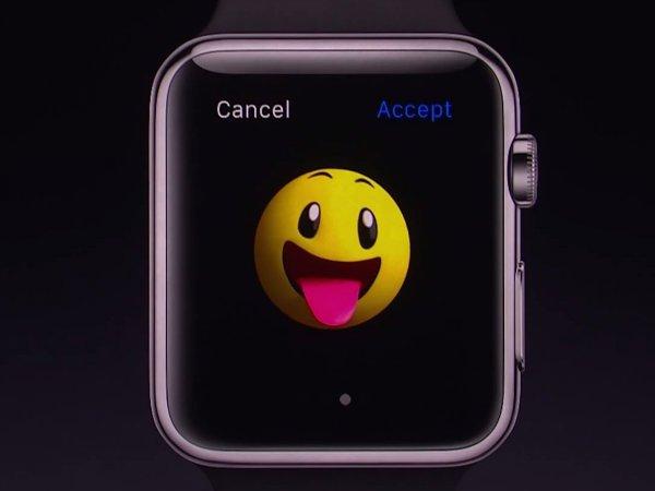 اموجی های متحرک که اپل طراحی کرده نیز می توانند از طریق پیام کوتاه برای دوستان ارسال شوند.