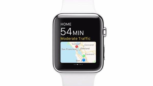 اپل واچ نقشه را هم به کاربر نمایش می دهد.
