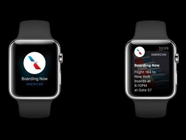 امکان دریافت نوتیفیکیشن های کاربردی و هوشمند از اپلیکیشن های جانبی نیز وجود دارد. برای مثال زمان پروازی که بلیطش را خریده اید بر روی ساعت به نمایش در می آید.