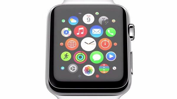 این صفحه اصلی ساعت است. همه اپلیکیشن ها یکجا جمع شده و با کشیدن انگشت روی ساعت می توان مرور و انتخابشان کرد.