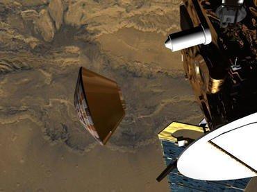 تصویری از رها شدن Beagle 2 و حرکت به سوی مریخ