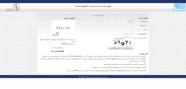 فرم درخواست خرید گواهینامه بین الملل - صفحه پرداخت