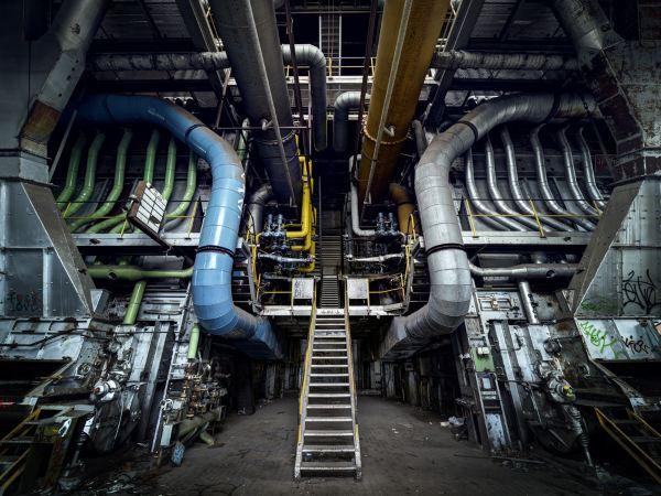 یک نیروگاه تولید برق متروکه در لوکزامبورگ