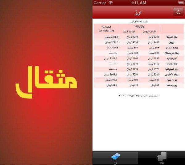 Mesghal iOS
