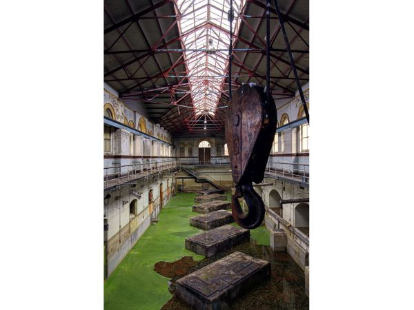 نمایی از ایستگاه آب و فاضلاب دوران ویکتوریا در شرق لندن