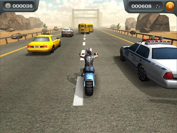 Moto Rider Traffic Scr