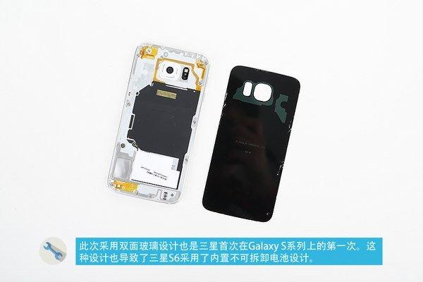 گلکسی S6 سامسونگ از طراحی دوگانه شیشه ای بهره مند بوده و باتریش به صورت پیش فرض قابل تعویض نیست.