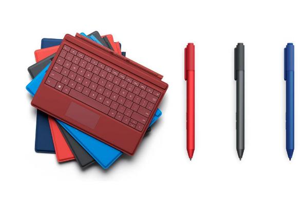 قلم ها و کیبورد های سرفس ۳ در رنگ های متفاوتی به بازار عرضه می شوند.