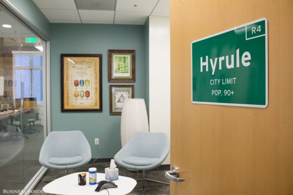 themed-conference-rooms-pay-tribute-to-places-in-different-video-game-worlds-the-mythical-kingdom-hyrule-serves-as-a-center-stage-for-many-games-in-the-legend-of-zelda-series