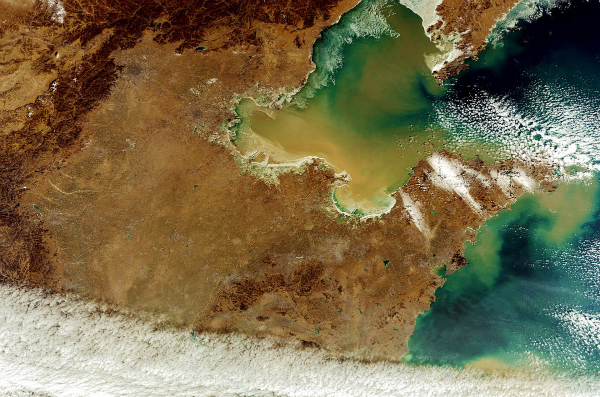 this-photo-of-northern-china-shows-the-yellow-river-flowing-into-the-yellow-sea-beijing-and-tanjing-are-shaded-circles-in-the-top-center-part-of-the-photo-w600
