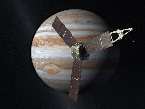 فضاپیمایی رباتیککه در سال ۲۰۱۱ توسط ناسا به فضا پرتاب شد تا در جولای ۲۰۱۶ به مشتری رسیده و به تحقیق در مورد آن بپردازد. جونو به گونه ای طراحی شده که بتواند میلیون ها کیلومتر دورتر از زمین اقدام به مانورهای فضایی کند. در این فضاپیما ۹ ابزار تحقیقاتی مختلف گنجانده شده و البته هنوز سفرش به سمت مقصد ادامه دارد.