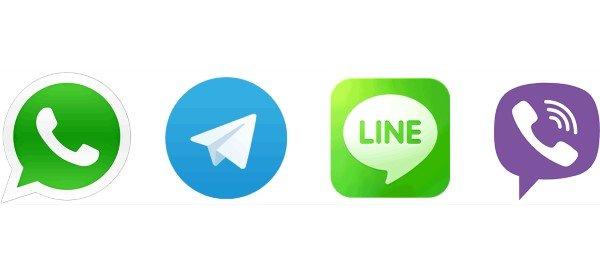 line viber whatsapp telegram