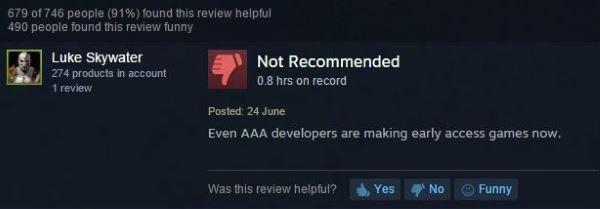 حتی سازندگان عناوین AAA هم بازی های Early Access می سازند.