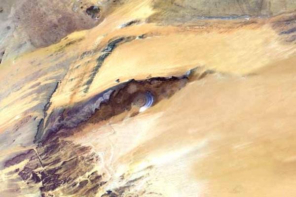 Richat Structure, Mauritania, True Colour Satellite Image