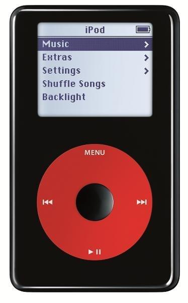در سال ۲۰۰۴ اپل نسخه ای ویژه از آیپاد را با همکاری گروه موسیقی U2 به بازار ارائه کرد. این دستگاه امضای اعضای این گروه موسیقی را در پشت خود به همراه داشت و از رنگی متفاوت بهره می برد.