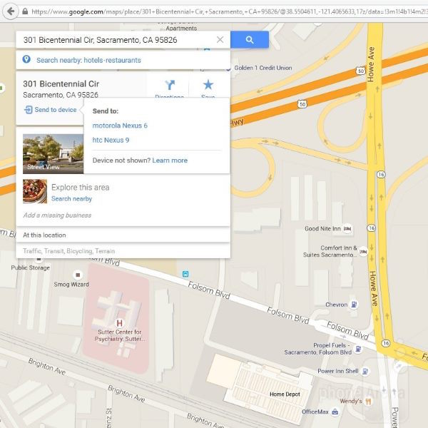 Google-Maps-desktop-to-Android
