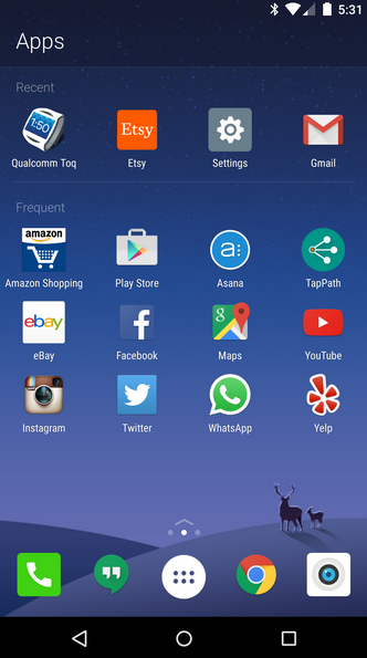 Home-page-shows-recently-and-frequently-used-apps