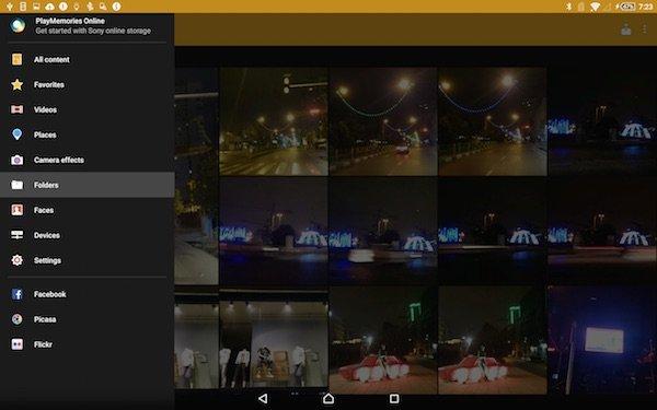گالری تصاویر رابط کاربری تبلت Xperia Z4