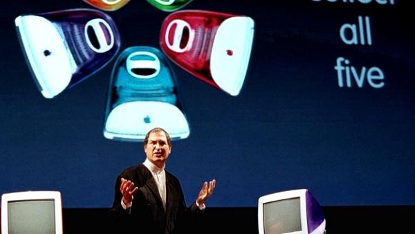 Steve-Jobs-introduces-the-rainbow-iMacs-Power-Mac-G3-Macworld-SF-1999-w600